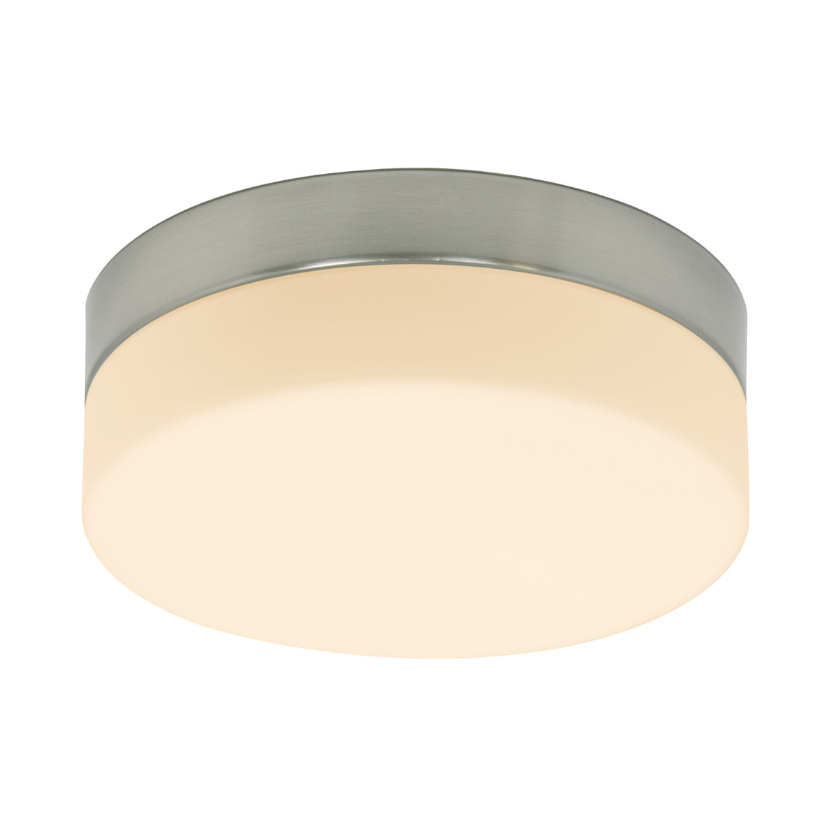 Steinhauer Plafondlamp ceiling and wall IP44 LED 1363st staal
