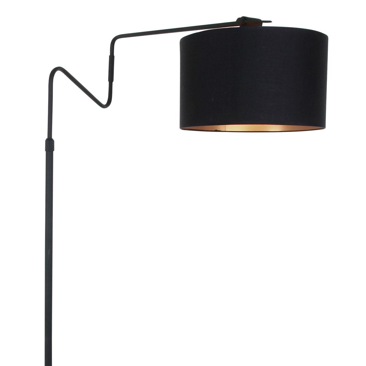 Anne Light & home Vloerlamp linstrom 2132zw zwart