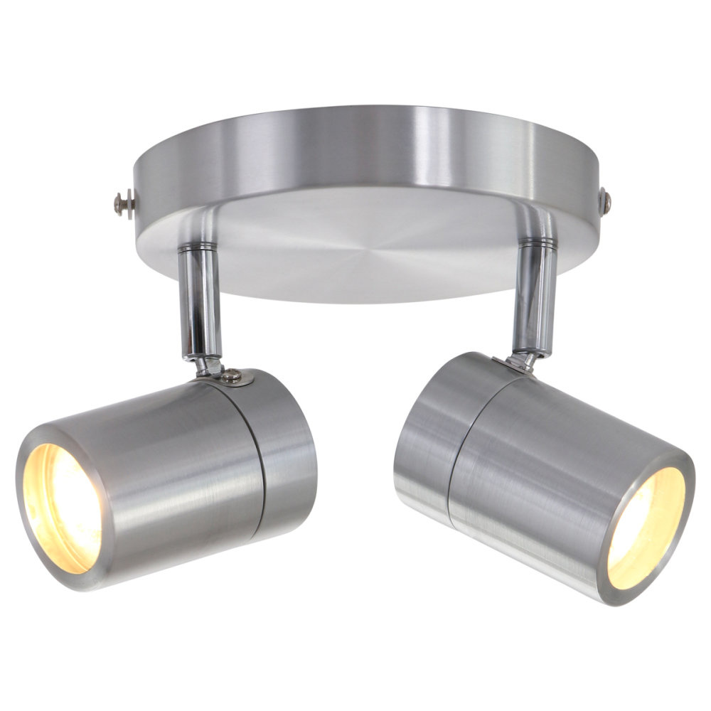 Mexlite Spot upround IP44 LED 2487st staal