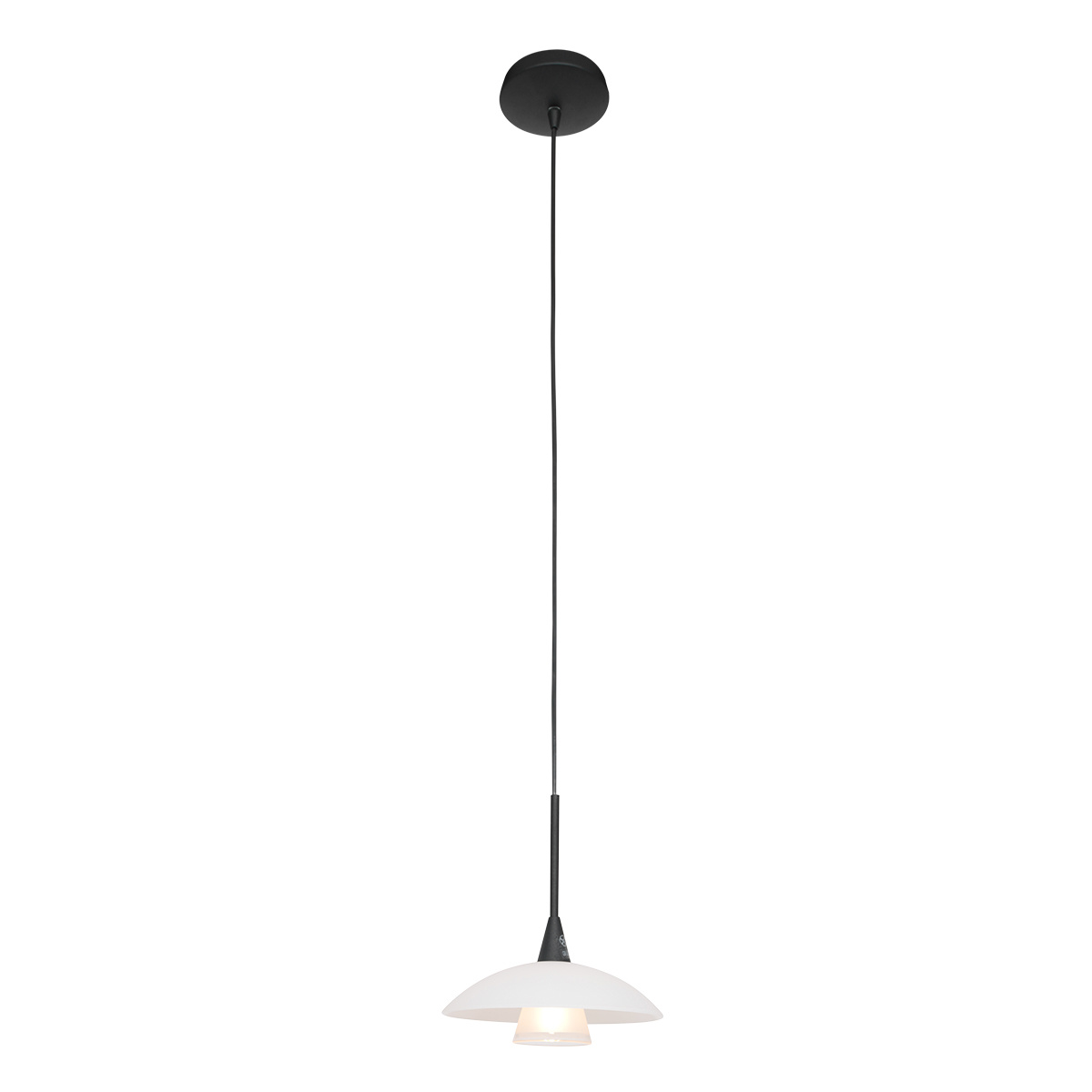 Steinhauer Hanglamp tallerken LED 2655zw zwart