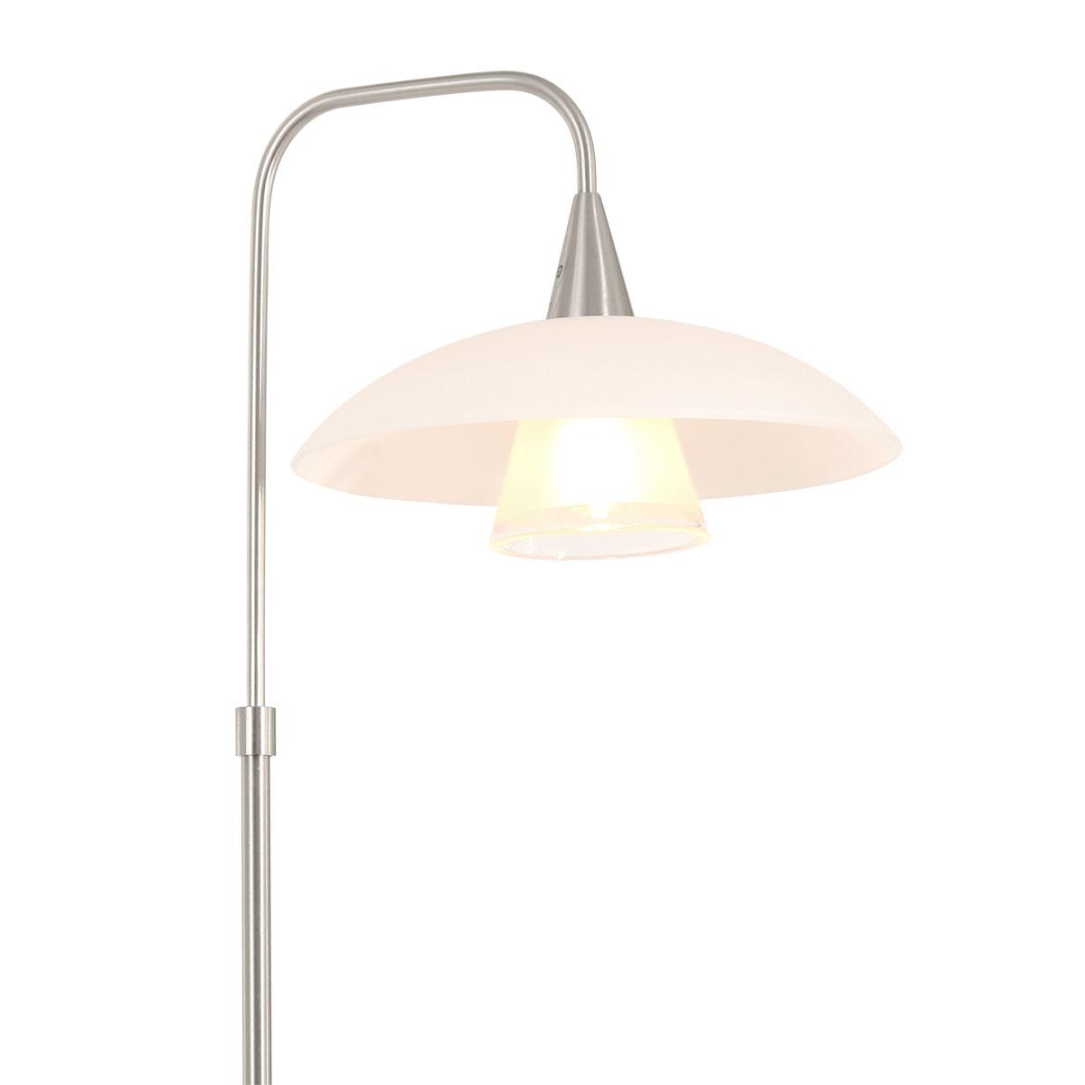 Steinhauer Tafellamp tallerken LED 2657st staal