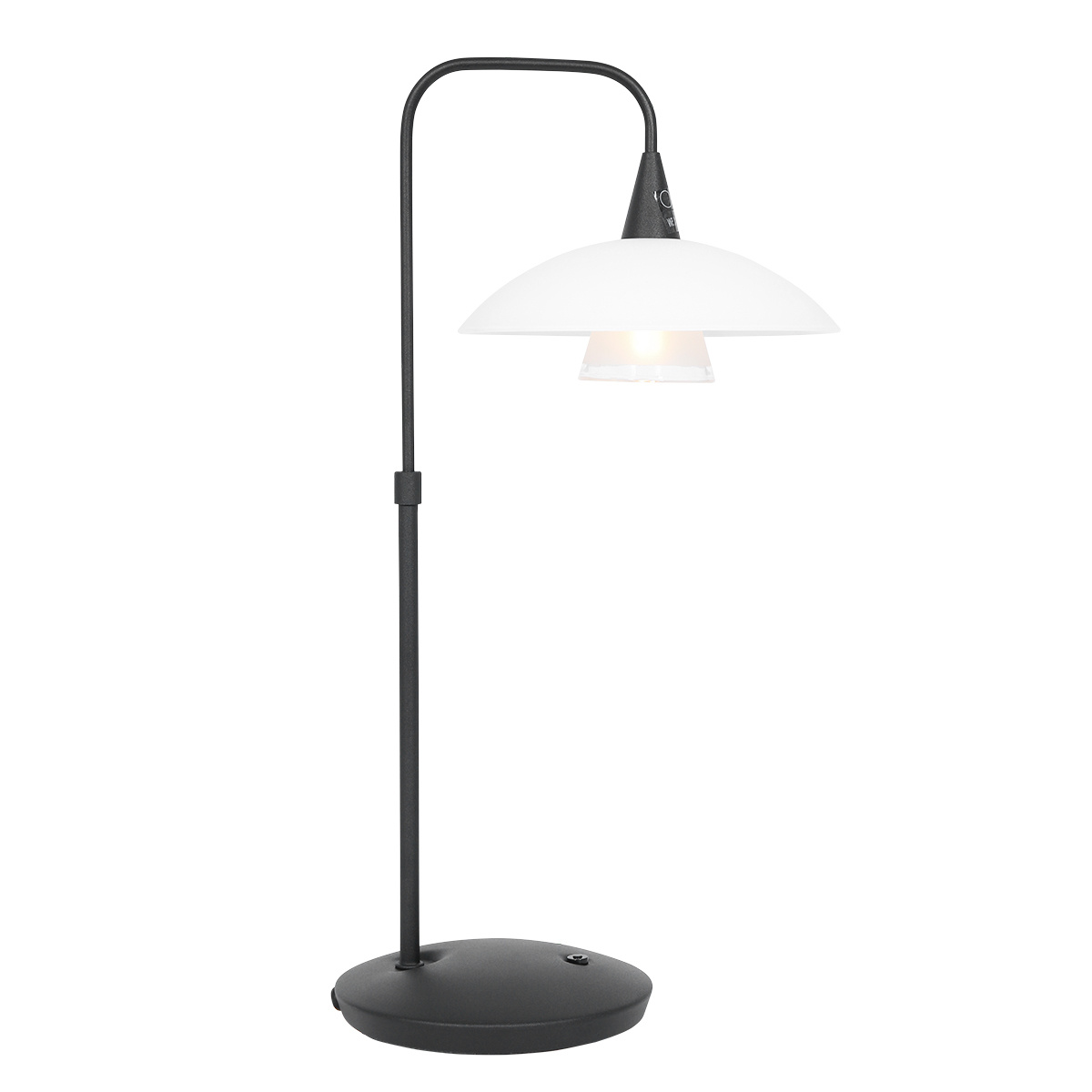 Steinhauer Tafellamp tallerken LED 2657zw zwart