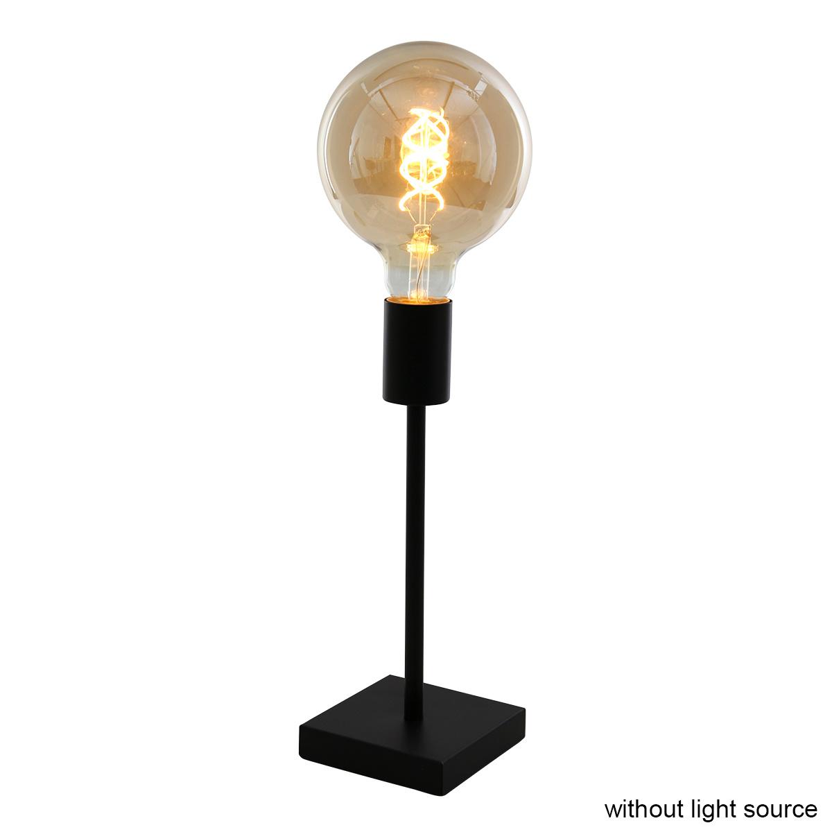 Mexlite Tafellamp mexlite minimalics 2702zw zwart