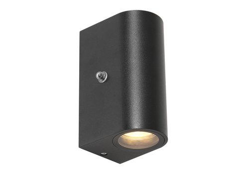 Steinhauer Buitenlamp Logan rond incl. LED dag nacht sensor zwart