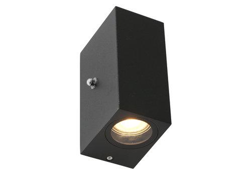 Steinhauer Buitenlamp Logan vierkant incl. LED dag nacht sensor zwart