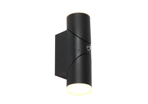 Steinhauer Buitenlamp Samar incl. LED 2 lichts dag nacht sensor zwart