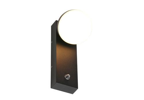 Steinhauer Buitenlamp Ball incl. LED 1 lichts dag nacht sensor zwart