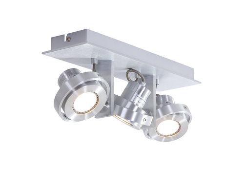 Steinhauer Spot quatro 3 lichts LED 7551 staal