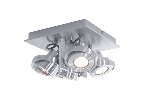 Steinhauer Spot quatro 4 lichts LED 7552 staal