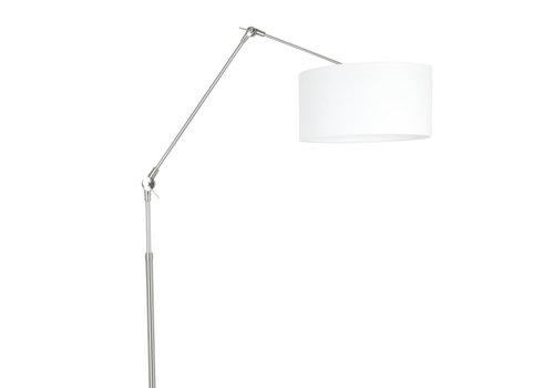 Steinhauer Vloerlamp prestige chic 8102st staal kap wit linnen