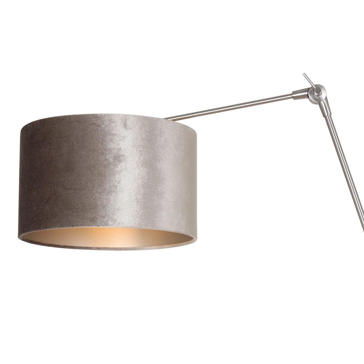 Steinhauer Wandlamp prestige chic 8110 staal kap zilver velours