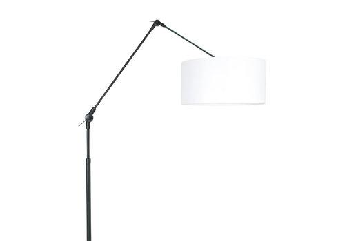 Steinhauer Vloerlamp prestige chic 8112zw zwart kap chintz wit