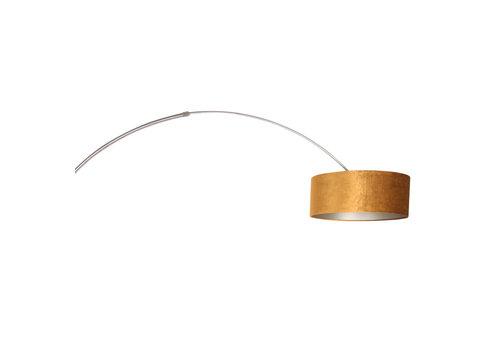 Steinhauer Vloerlamp Sparkled light 8126 staal kap gouden velours