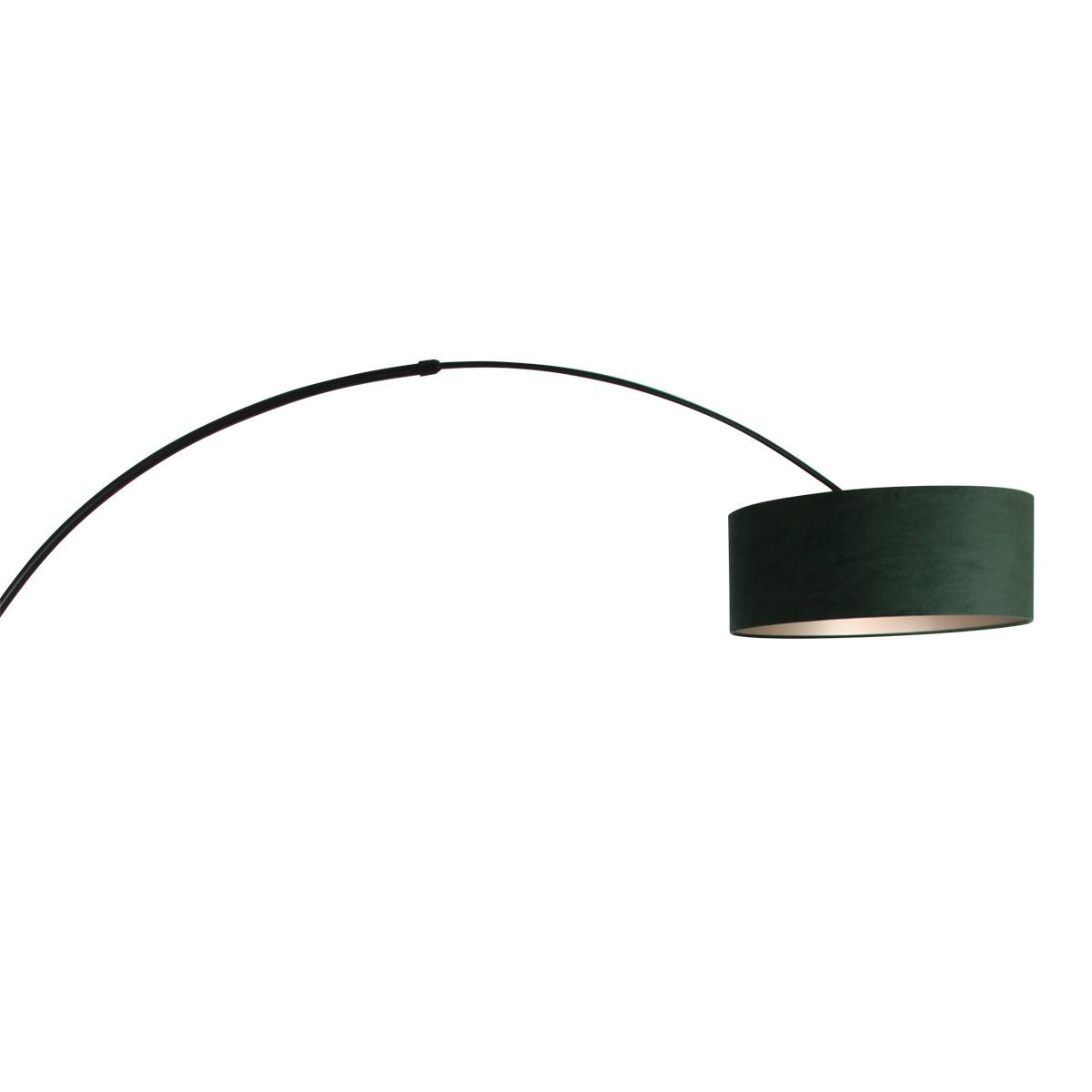 Steinhauer Vloerlamp Sparkled light 8127 zwart kap groene velours