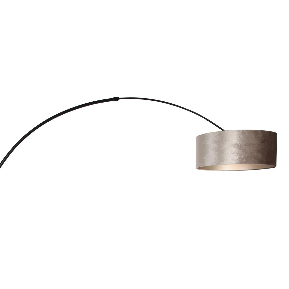 Steinhauer Vloerlamp Sparkled light 8128 zwart kap zilveren velours