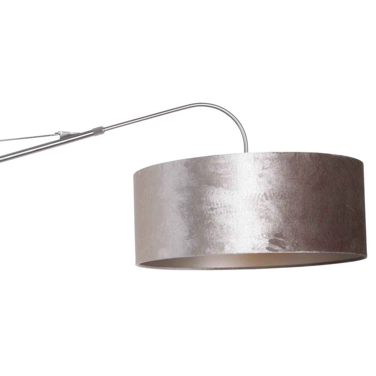 Steinhauer Wandlamp elegant classy 8131 staal zilver velours kap goud