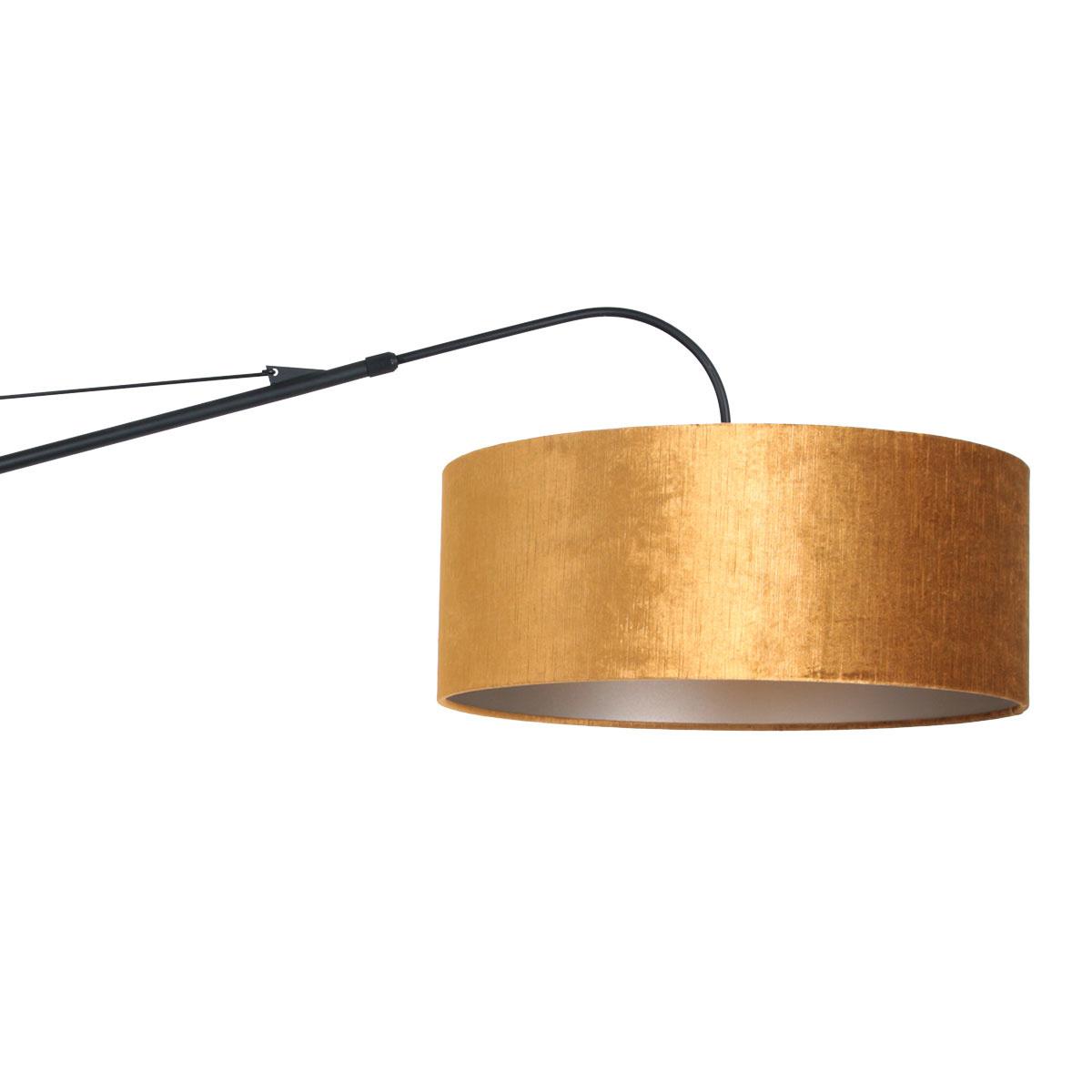 Steinhauer Wandlamp elegant classy 8135 zwart velours kap goud