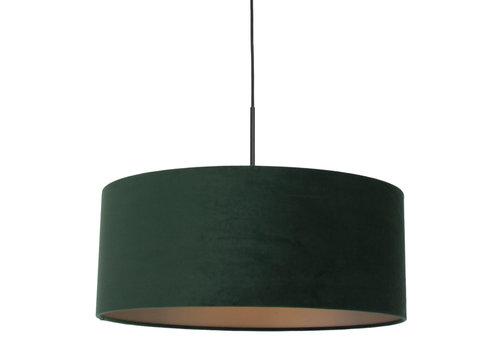 Steinhauer Hanglamp Sparkled light 8156 groen velours kap goud