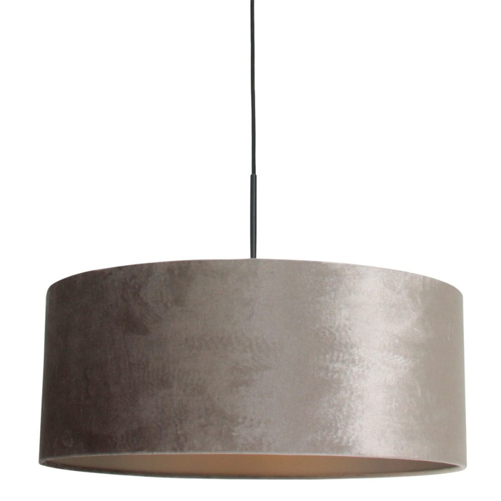 Steinhauer Hanglamp Sparkled light 8157 zilver velours kap goud