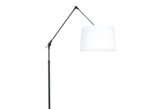 Steinhauer Vloerlamp prestige chic 8183zw zwart kap effen wit