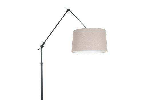 Steinhauer Vloerlamp prestige chic 8185 zwart kap linnen grijs