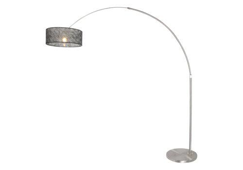 Steinhauer Vloerlamp Sparkled light 9681 staal kap sizoflor zwart