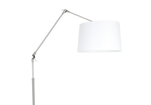 Steinhauer Vloerlamp prestige chic 9718st staal kap effen wit