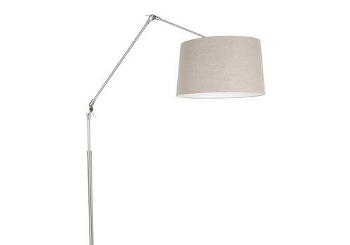 Steinhauer Vloerlamp prestige chic 9720 staal kap linnen grijs