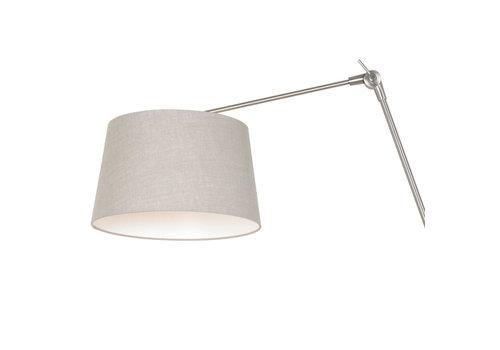 Steinhauer Wandlamp prestige chic 9724 staal kap linnen grijs