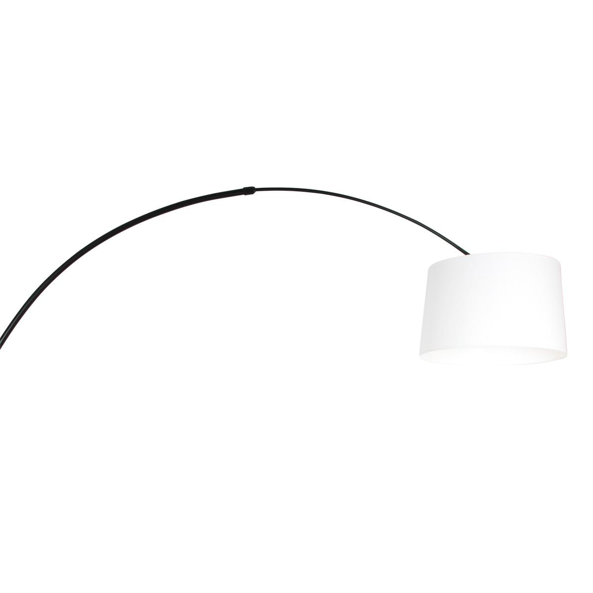 Steinhauer Vloerlamp Sparkled light 9828 zwart kap effen wit