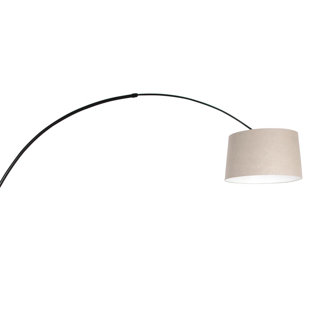 Steinhauer Vloerlamp Sparkled light 9830 zwart kap grof linnen grijs