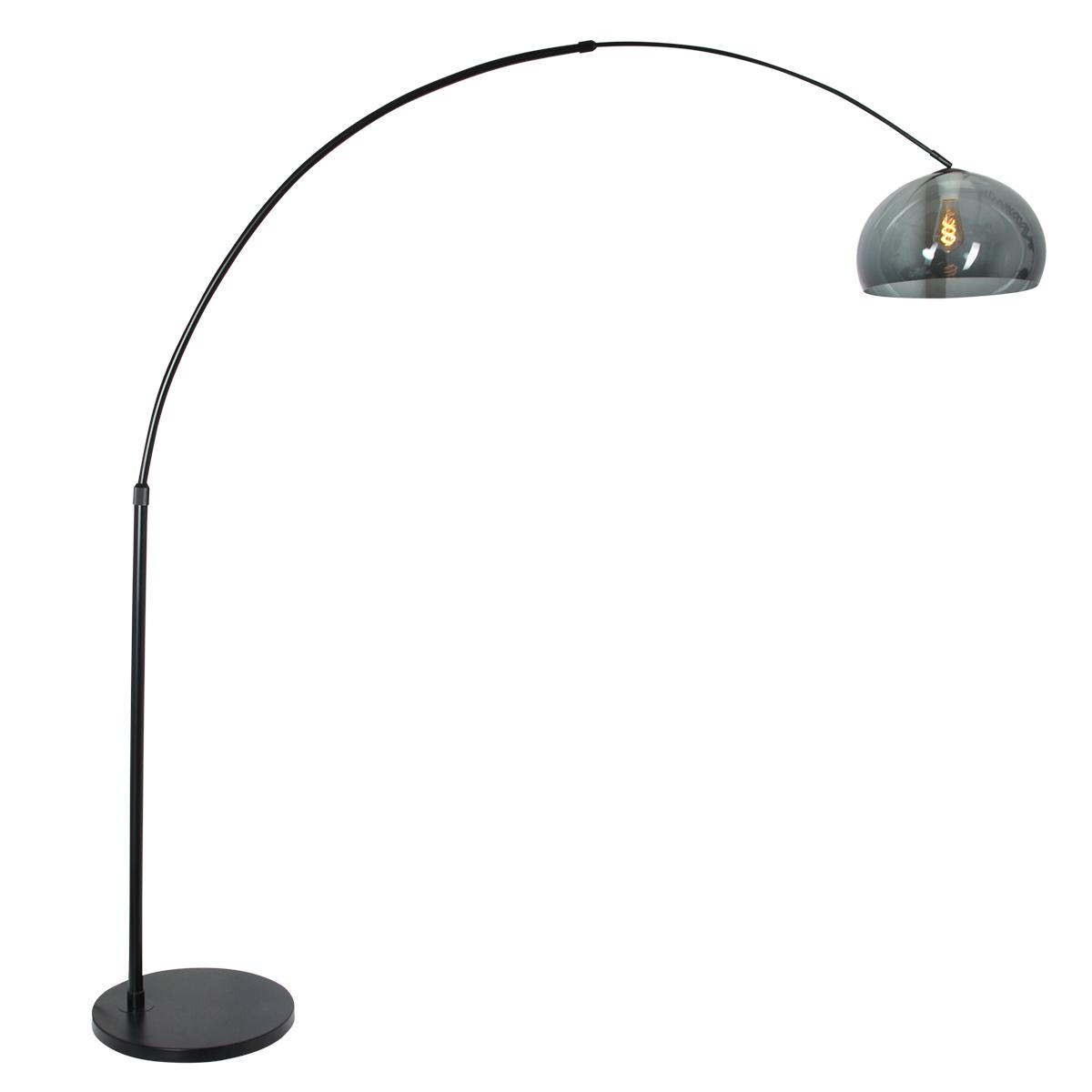 Steinhauer Vloerlamp Sparkled light 9878 zwart kunststof grijze kap