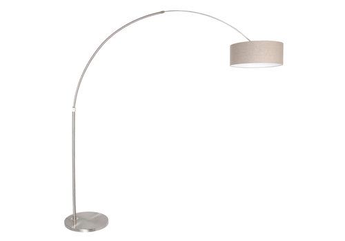 Steinhauer Vloerlamp Sparkled light 9904 staal kap grijs linnen