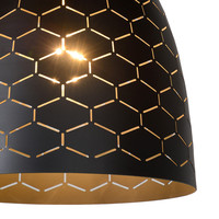 GALLA Hanglamp-Zwart-Ø25-1xE27-60W-Metaal