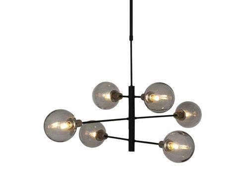 Steinhauer Hanglamp Constellation 6 lichts Ø 105 cm 2709 zwart