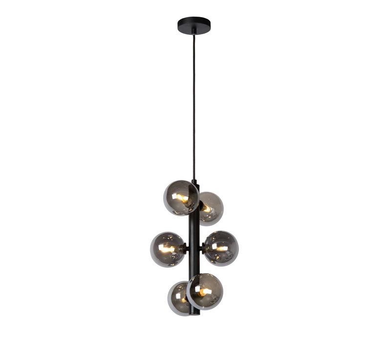 TYCHO Hanglamp-Zwart-Ø25,5-6xG9-28W-Staal