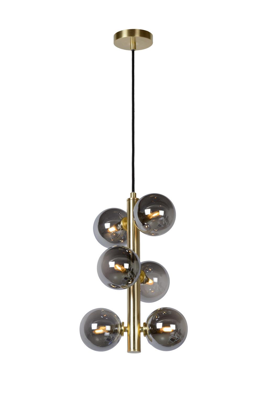 TYCHO Hanglamp-Mat Go.-Ø25,5-6xG9-28W-Staal