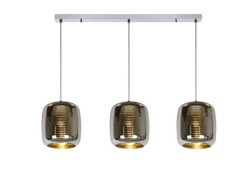 ERYN Hanglamp-Chroom-3xE27-60W-Glas