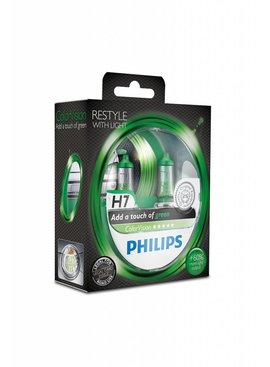 Philips H7 ColorVision Groen Duobox