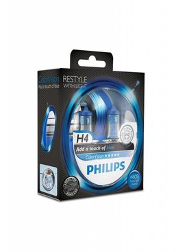 Philips H4 Colorvision Blauw Duobox