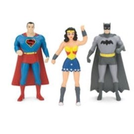 NJCroce Bendable Set Superman Batman Wonder Woman