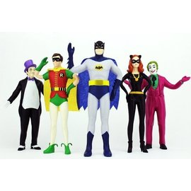 NJCroce Bendable Set Batman Robin Penguin Catwoman Joker