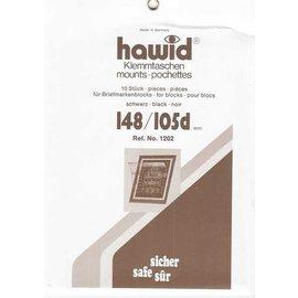 Hawid klemstroken 148 x 105 mm zwart - 10 stuks