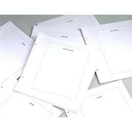 Davo LX blanco bladen kader Nederland - 20 stuks