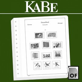 Kabe album pages OF Germany Federal Republic horizontal pairs 1959-2014