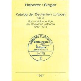 Haberer Katalog der Deutschen Luftpost Teil 9: Erst- und Sonderflüge de Deutschen  Lufthansa 1969-1978