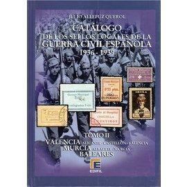 Edifil Tomo II Catálogo de la Guerra Civil Española 1936-1939 Valencia Murcia Baleares