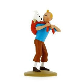 moulinsart Tintin statue - Tintin fetches Snowy