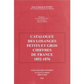 Jamet Catalogue des Losanges Petits et Gros Chiffres de France 1852-1876