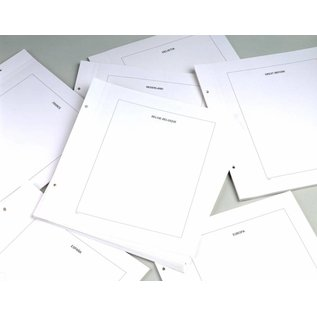 Davo LX blanco bladen kader Groot-Brittannië - 20 stuks